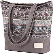 ArcEnCiel Multi Pocket Womens Handbag Shoulder Bag Large Capacity Shopping Bag Tote Work Bags