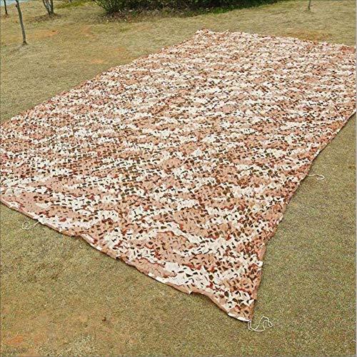 WFwznet Wüstentarnnetz, zusammenklappbares Tarnnetz for Sonne/Dämmung/Hof/Balkon/Garten/Feld/Outdoor Für militärische Enthusiasten (Color : Bark Color, Size : 3x4M) -