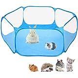 خيمة بتصميم قفص للحيوانات الاليفة الصغيرة من سي اند سي، جيدة التهوية وشفافة، مكان لعب مفتوح وسهل الحمل ومسيج في الداخل والخار