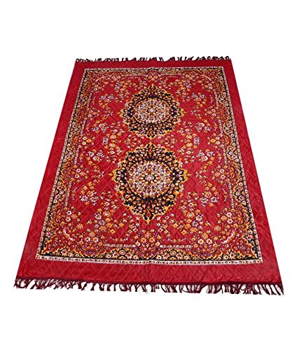 Home-Elite-Traditional-Abstract-Polyester-Carpet-55x80-Red