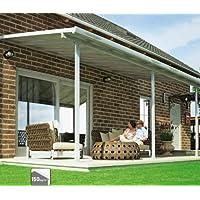 Hochwertige ALU Terrassenüberdachung/Veranda - 550 x 300 (BxT) / Überdachung/Pergola Palram Feria Weiß