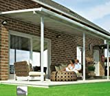 Hochwertige ALU Terrassenüberdachung / Veranda - 550 x 300 (BxT) / Überdachung / Pergola Palram Feria Weiß