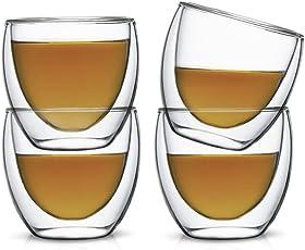 Teabox Glass Teacup (Doublewalled Borosilicate, Insulated Tea Cup)