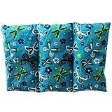 Cuscino termico 'Farfalle - blu' - 26 x 16 cm (M / L) - pieno di noccioli di ciliegia 330gr - effetto freddo/caldo . saco termiche