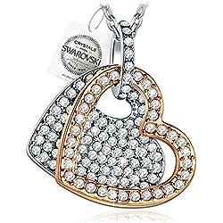 PAULINE&MORGEN siempre en mi corazón Collar Mujer con cristales SWAROVSKI Joyería regalos cumpleanos regalos de navidad regalo dia de la madre regalos san valentin aniversario mama Hermana nina