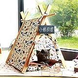 shanzhizui Nid de chat Type fermé Petite yourte de chien Salle de tentes pour animaux Lavable Teddy Kennel Quatre saisons disponibles, A