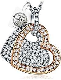 PAULINE&MORGEN Siempre En Mi Corazón Collar para Mujer fabricados con cristales SWAROVSKI y caja de regalo