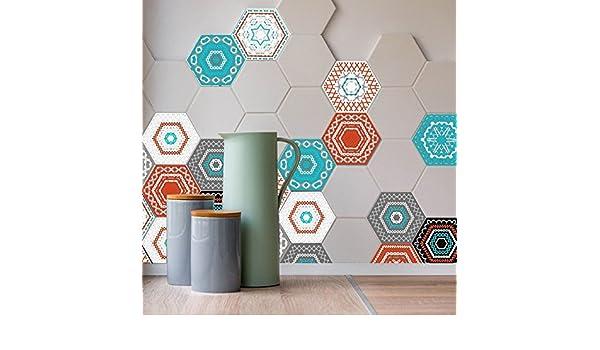 Yunnuopromi art floor adesivi decalcomanie pezzi esagonali per