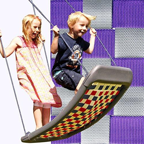 Preisvergleich Produktbild Kleine Mehrkindschaukel STANDARD silber/violett für 2 Kinder, 109 x 53 cm (SPR.M.104) - das Original direkt vom Hersteller die-schaukel.de