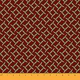 Soimoi Rot Seide Stoff Mimose Blatter gedruckt Craft Fabric