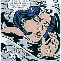 Kunstdruck Artprint Pop Art Größe 35x28 cm Lichtenstein Roy Kiss V