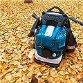 Benzin Laubbläser Benzinrucksack-Blattgebläse mit neuen und verbesserten gepolsterten Tragriemen während des Einsatzes - Sicherheitsausrüstung?4-Takt-Motor?besonders rückenschonend für große Flächen