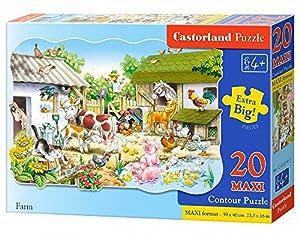 CASTORLAND Farm 20 Maxi pcs Contour Puzzle 20 Pieza(s) - Rompecabezas (Contour Puzzle, Dibujos, Preescolar, Niño/niña, 4 año(s), Interior)