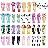 Frcolor Tier Snap Haarspangen Niedlichen Cartoon Haarspangen Haarnadel für Baby Kinder Kinder Mädchen (34 Stücke)