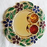 Ira Creations Raksha Bandhan Round Plate (Size: 5.75
