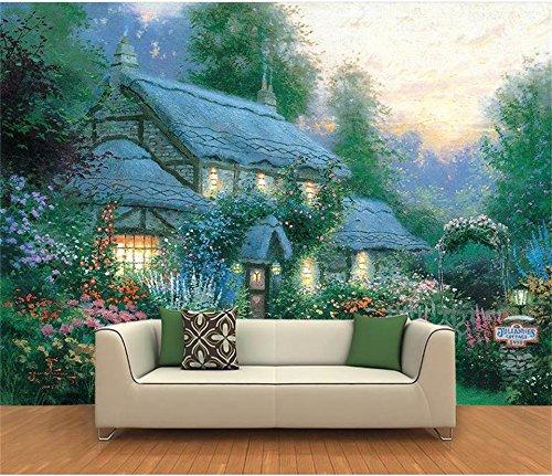 Yosot 3D Tapeten Individuelle Fototapete Wohnzimmer Wandbild Thomas See Landschaft Öl Malerei Sofa Hintergrundbild Für 3D-Wand-400Cmx280Cm -