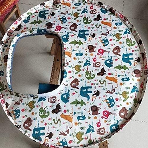 Couverture de chaise haute pour bébé avec coussin pour chaise haute pour bébé (couleur: règne animal)