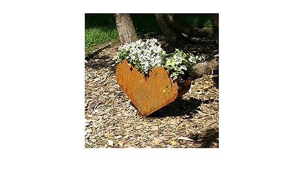 Pflanzgefäß Pflanzschale 50x50x20 cm Edelrost Rost Deko zum bepflanzen