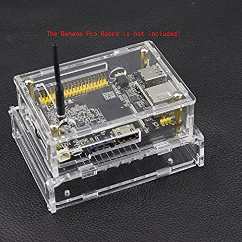 Yuver (TM) ¨¤ la mode de conception acrylique Double-deck Case Box transparent pour Banana Pi Pro New Hot