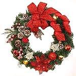 Mambain ✿Ghirlanda Natalizia Decorativa Chic Bello Corona Di Natale Decorazioni Di Natale Porta Indoor Festa Natalizia Regalo