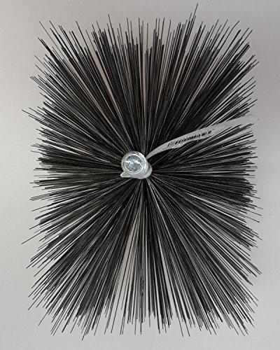 Cepillo de alambre de acero de forma definida, para limpiar chimenea, calderas,...