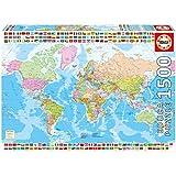 Educa Borrás - 17117.0 - Puzzle -  Mappe Monde - 1500 Pièces