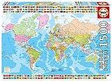 Educa Borrás - 1500 Mapamundi Político, Puzzle (17117)