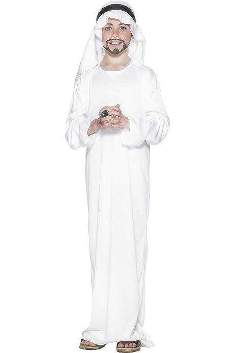 Smiffys-21792L Disfraz árabe, con túnica y Adorno para la Cabeza ...