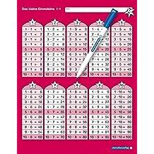 Das kleine Einmaleins mit Stift: 1x1 Tafel im großen Format, trocken abwischbar ohne zu schmieren und ohne Farbrückstände für die 2. Klasse