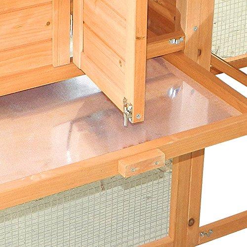 Hühnerstall mit Freilauf und Nistkasten Fichtenholz 171 x 66 x 120 cm Gitter und Kotwanne verzinkt - 2