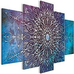 murando - Cuadro Mandala 200x100 cm - impresión de 5 Piezas - Material Tejido no Tejido - impresión artística - Imagen gráfica - Decoracion de Pared - Oriente f-A-0663-b-o