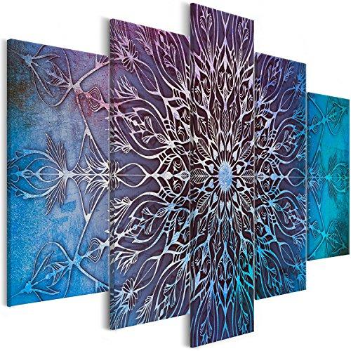 murando - Cuadro en Lienzo Mandala 200x100 cm - Impresion en Calidad fotografica - Cuadro en Lienzo Tejido-no Tejido – 5 Partes – Oriente f-A-0663-b-o