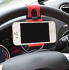 VOLTAC 349877 Car Steering Wheel Mobile Holder (Multi-Color, 54-76mm)