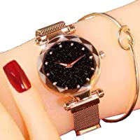 TIMESOON Casual Designer Black Dial Magnet Watch - for Girls & Women