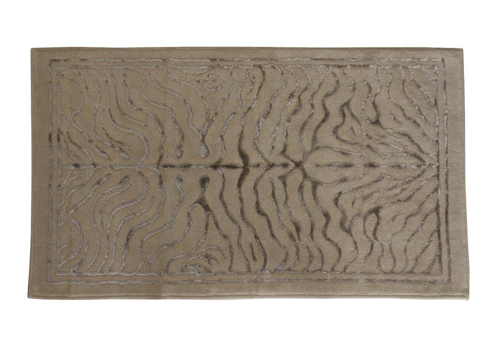 TAPPETO ARREDO BAGNO TIGER ALTA QUALITA' COTONE MULTIUSO TOP LEVEL (CM 60 x 100, TORTORA)