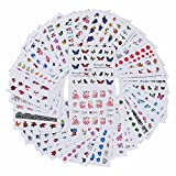 Born Pretty 50 Sheets Butterfly Flower Water Decal Colorful Bowknot Love Feather Nail Art Transfer Sticker