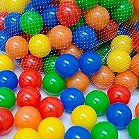 LittleTom 50 pcs 5,5 cm Bolas Marinas Juguete de los Niños Pelotas de Colores para Piscina Bolas de Plástico en Parque Infantil Regalo para Niños Bebé