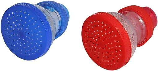 pke Plastic Kitchen and Bathroom Tap Shower Sprinkler Head (Black, Pack of 3)