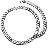 15 millimetri elegante Chain del bordo collana girocollo regolabile Cuban Catena in acciaio inox Curb collana Rapper For Men