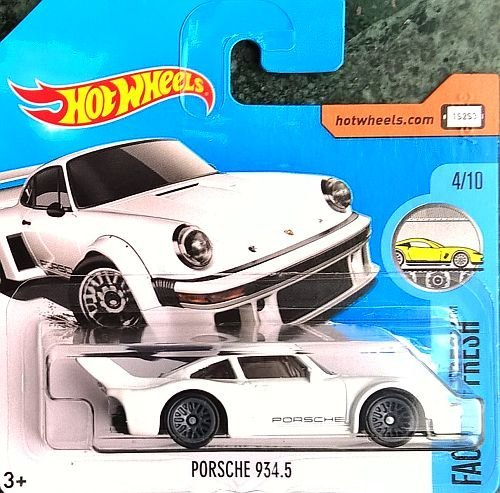 Preisvergleich Produktbild HOT WHEELS® Porsche 934.5 - 1:64 - weiß (Edition HW Factory Fresh 2017) ^