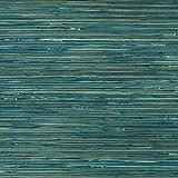 Vlies Tapete Japan Gras Chinagras Optik Sisal Optik Naturtapeten SR210308 petrol türkis