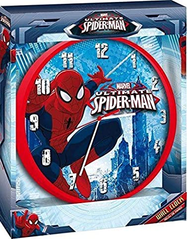 Marvel Ultimate Spider-Man Childrens 24cm Wall Clock (Spider-Man)
