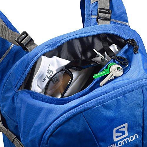 Salomon, Zaino da escursione, 25 litri, Cinghia regolabile sullo sterno e Cinturone regolabile, Porta Bastoni, EVASION Blu Reale
