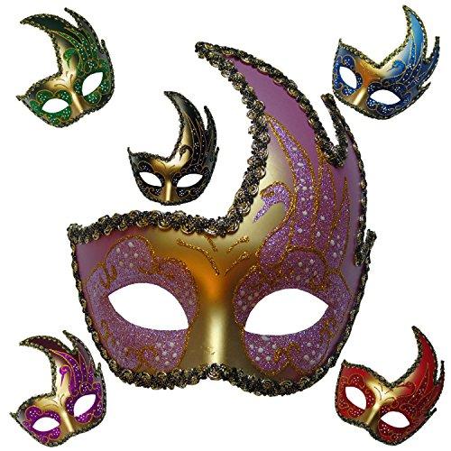 S2/Venezianische Maske Colombine. Zeichen Spitze absolutem (Masquarade Masken)