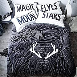 El otoño y el invierno de cuatro piezas de cristal caliente gruesa lana cachemir arrecifes de terciopelo bordado colcha cama provisto modelos,hoja de cama,el viaje de la Aurora - Gris,1,5 m (5 pies) de la cama