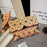 Weibliche Tasche Geometrische Lingge Clutch Bag Mode Falten Handtasche Geldbörse Portemonnaie , Orange