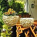 SIDCO ® 2er Set Blumenampel rund Pflanzenampel Hängeampel Blumen Ampel Blumentopf Garten von SIDCO bei Du und dein Garten