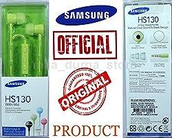 Samsung Original EO-HS130DGEGIN HS-1303 In-Ear Volume Control Handsfree (Green)