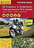3D Panorama- und Motorradkarte - Südtirol - Dolomiten - Gardasee, Straßenkarte 1:270.000 mit großem 3D Alpenpanorama und Motorrad-Tourentipps (Straßen und Themenkarte)