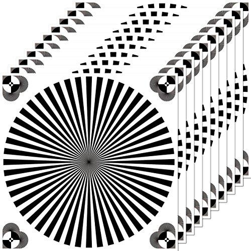 Aufkleber 10cm Sticker Siemensstern Auflösung Graukarte Kamera Objektiv Fokus Test chart (10)